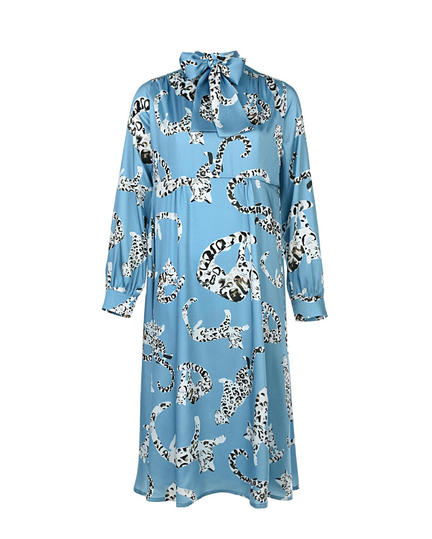 """Платье Audrey с принтом """"Снежный барс"""" Pietro Brunelli фото"""