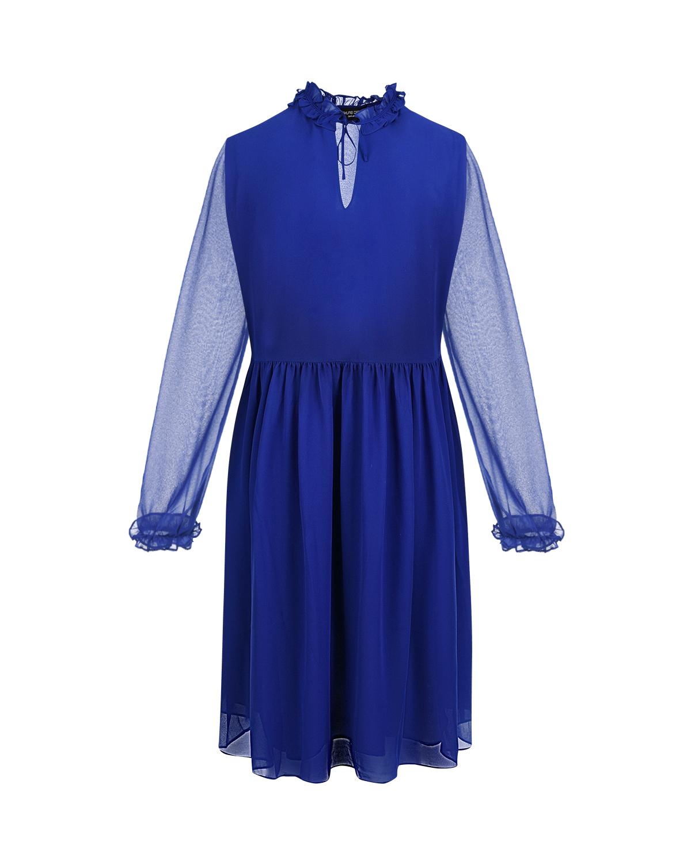 Синее платье Matilde из шифона Pietro Brunelli голубого цвета