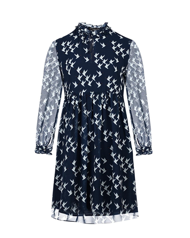 """Платье для беременых с принтом """"утки"""" Pietro Brunelli синего цвета"""