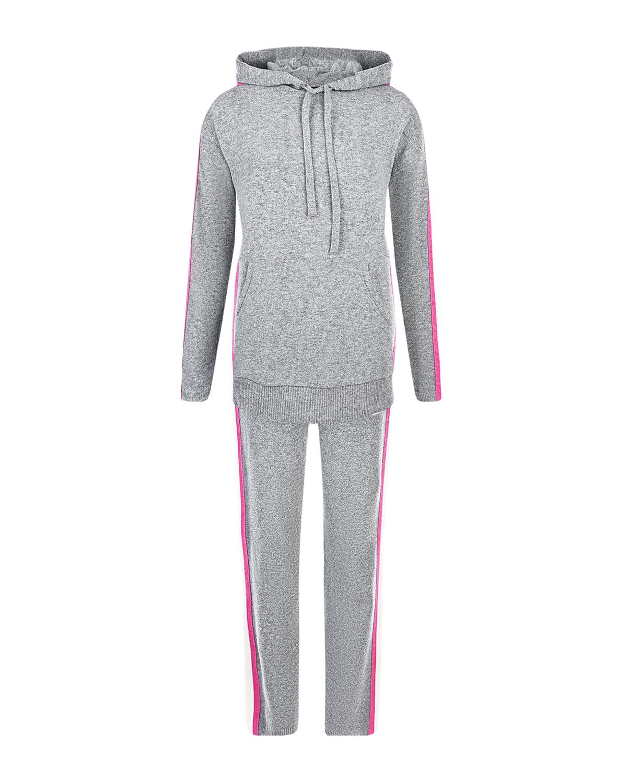 Купить Серый спортивный костюм для беременных Monte Bianco Pietro Brunelli, Нет цвета, 24%шерсть+26%вискоза+23%полиамид+19%кашемир+8%эластан, 30%вискоза+30%шерсть+20%полиамид+20%кашемир