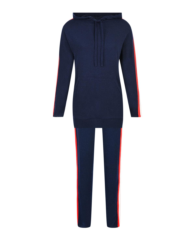 Купить Костюм спортивный Monte Bianco Pietro Brunelli, Синий, 24%шерсть+26%вискоза+23%полиамид+19%кашемир+8%эластан, 30%шерсть+30%вискоза+20%полиамид+20%кашемир