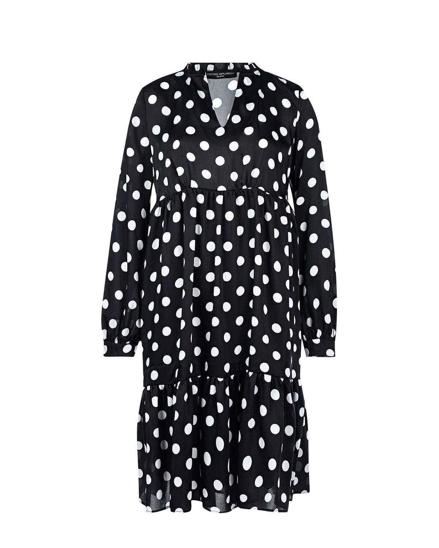 Платье Marylin в горошек Pietro Brunelli черного цвета