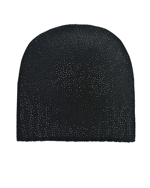 Черная шапка из шерсти и кашемира со стразами Regina детская фото