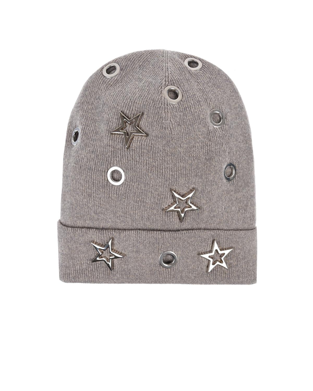Купить Серая шапка из шерсти и кашемира Regina детская, Серый, 70%шерсть+30%кашемир