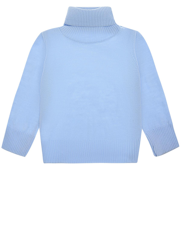 Купить Голубая водолазка из шерсти Arc-en-ciel детская, Голубой, 100%шерсть