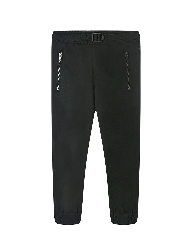 Купить Черные брюки с трикотажной подкладкой Stella McCartney детские, Черный, 100%полиэстер, 100%хлопок