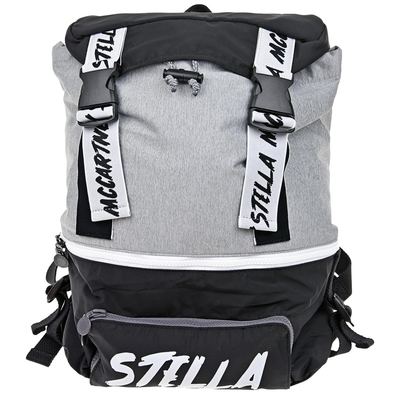 Купить Черно-серый рюкзак 40х30х11 см Stella McCartney детское, Мультиколор, 100%полиэстер, 50%полиэстер+50%полиуретан