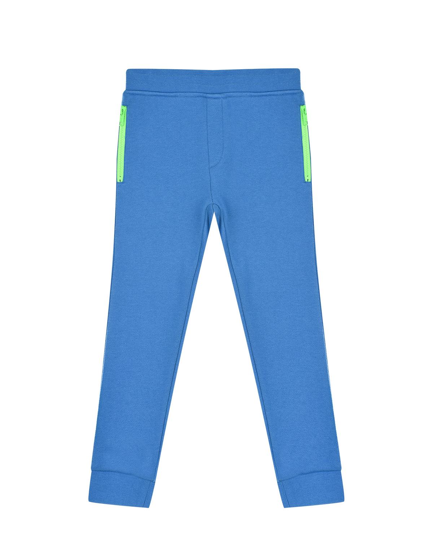 Купить Голубые спортивные брюки с карманами Stella McCartney