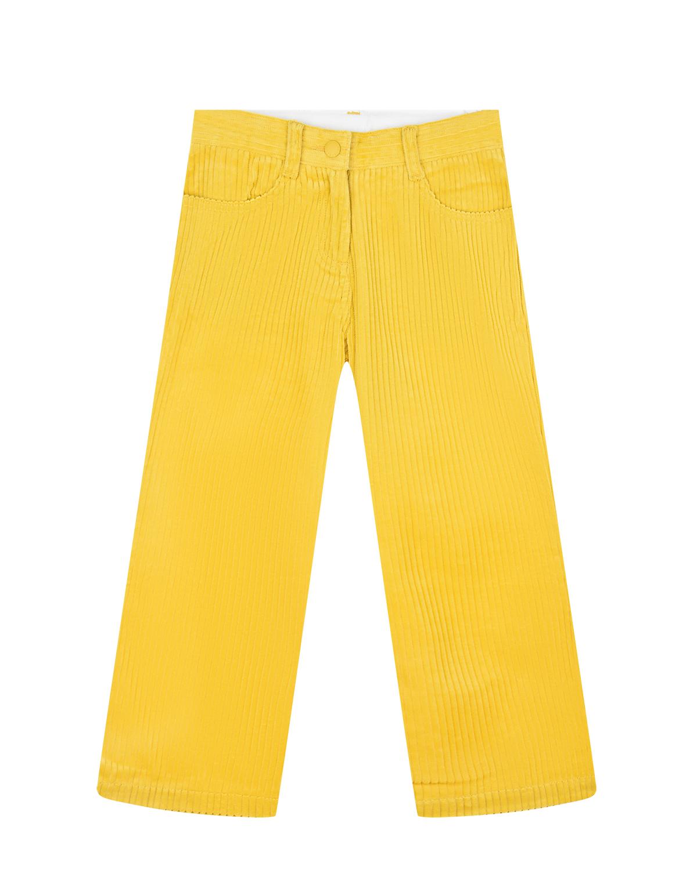 Купить Желтые брюки из вельвета Stella McCartney детские, Нет цвета, 100%хлопок, 100%полиуретан
