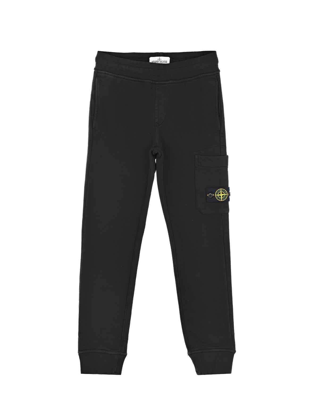 Спортивные брюки черного цвета Stone Island детские.