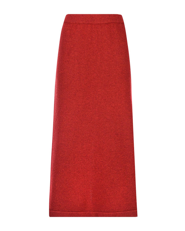 Купить Красная юбка из шерсти и кашемира Tak Ori