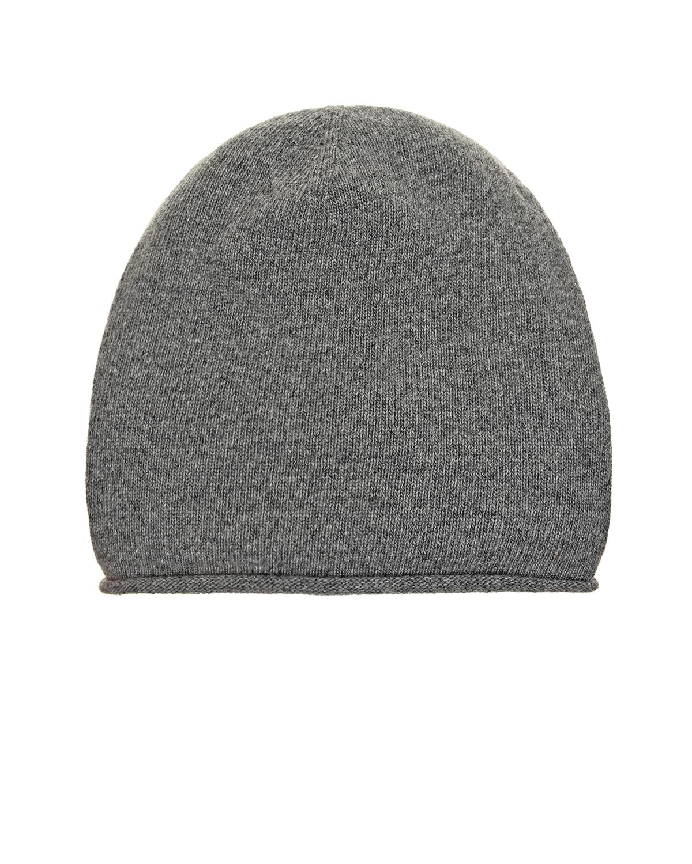 Купить Серая шапка из шерсти и кашемира Tak Ori
