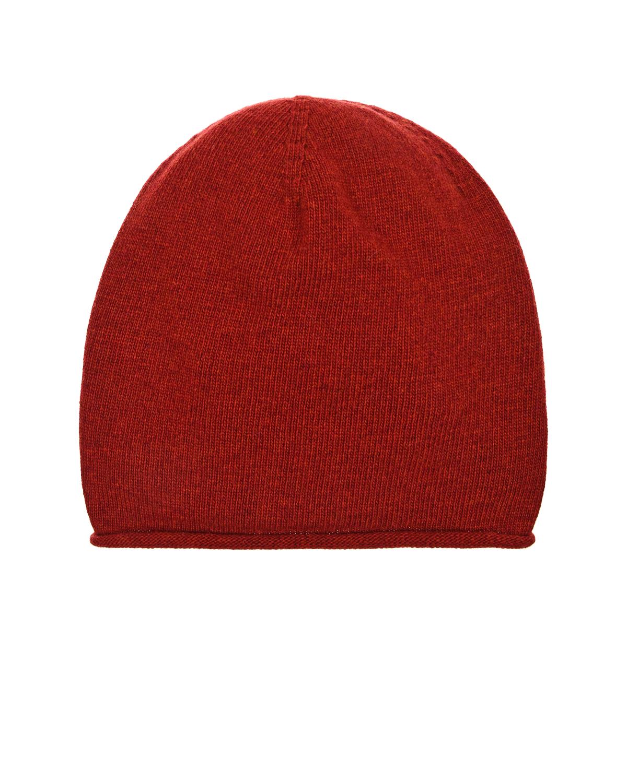 Красная шапка из шерсти и кашемира Tak Ori фото