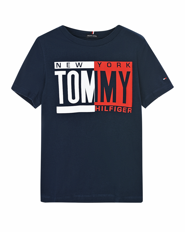 Купить Синяя футболка из хлопка Tommy Hilfiger