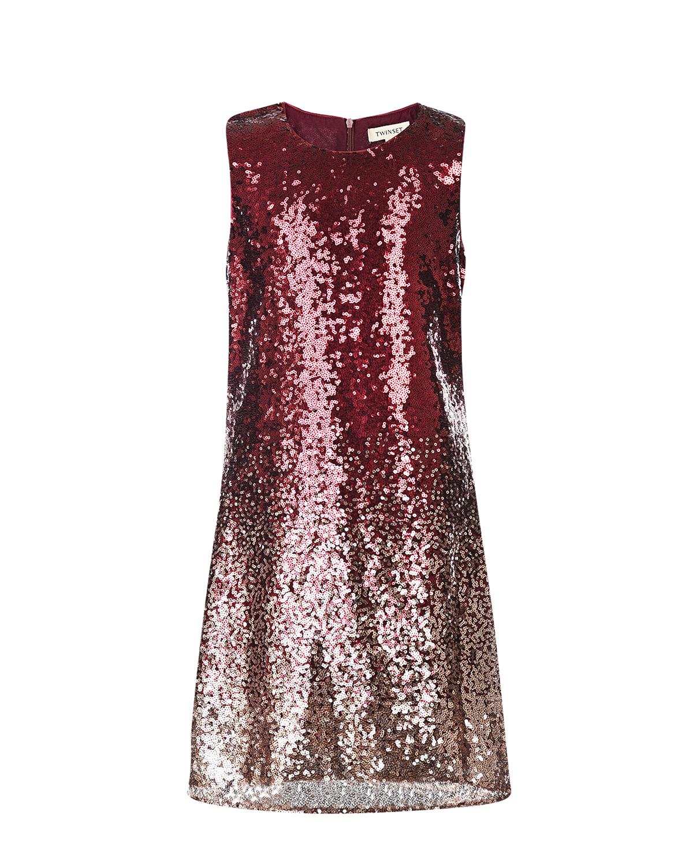 Купить Платье с пайетками TWINSET детское, Мультиколор, 100%полиэстер, 100%вискоза