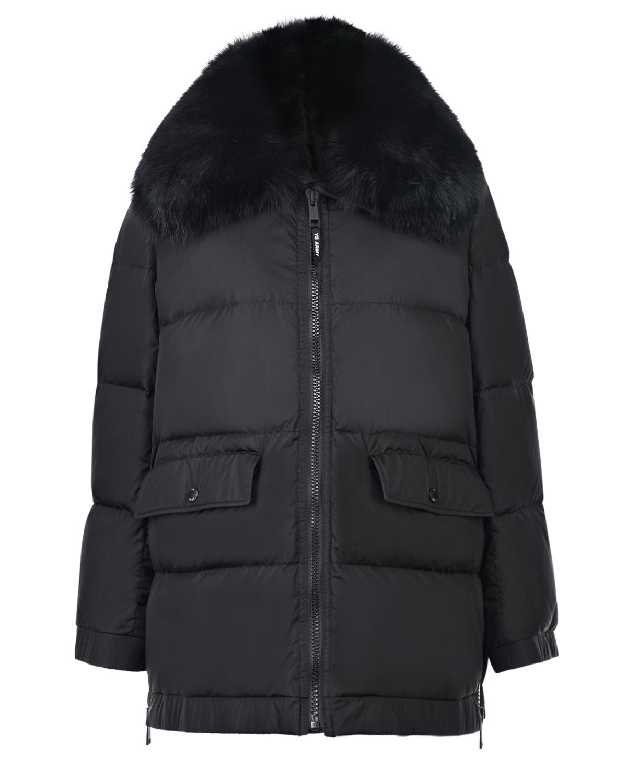 Купить со скидкой Пальто-пуховик с отделкой из меха лисы Yves Salomon