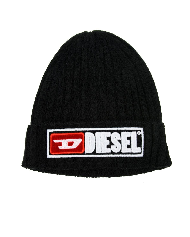 Черная шапка с отворотом Diesel  - купить со скидкой