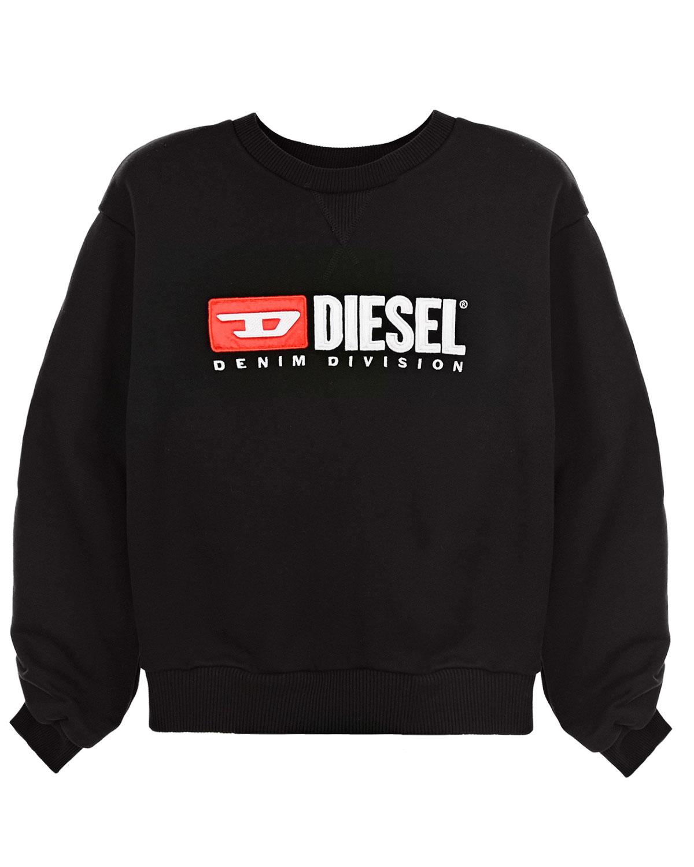 Купить Черный свитшот с принтом Diesel