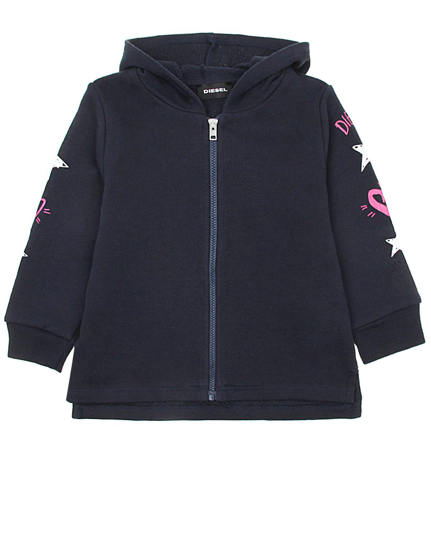 Купить Куртка спортивная с капюшоном Diesel детская, Синий, 100%хлопок