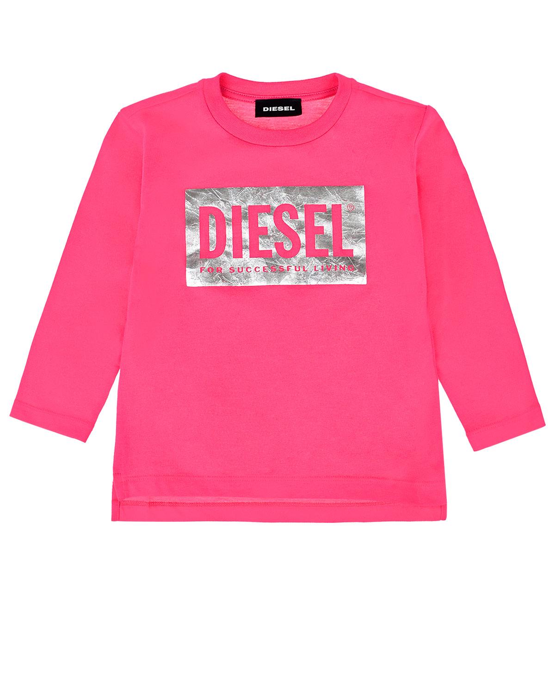 Купить Розовая толстовка с принтом Diesel