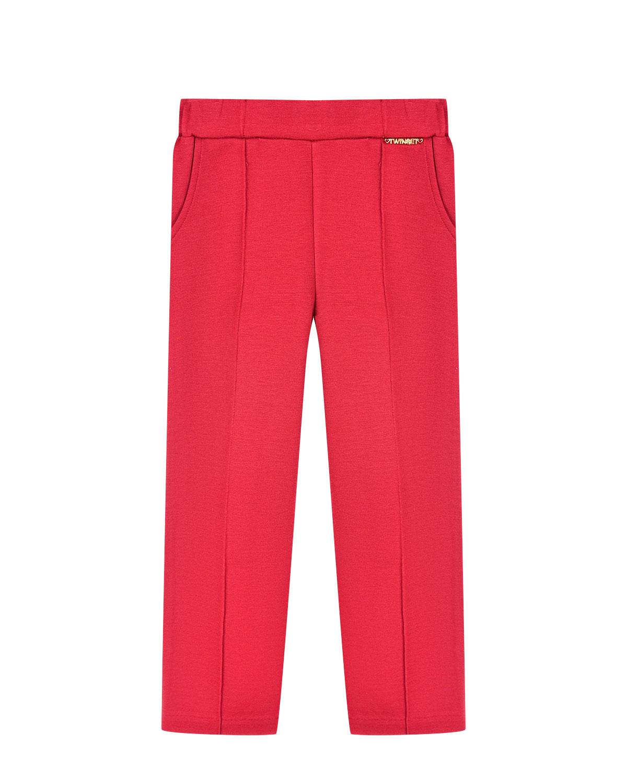 Купить Эластичные брюки с поясом на резинке TWINSET детские, Красный, 68%вискоза+27%полиамид+5%эластан