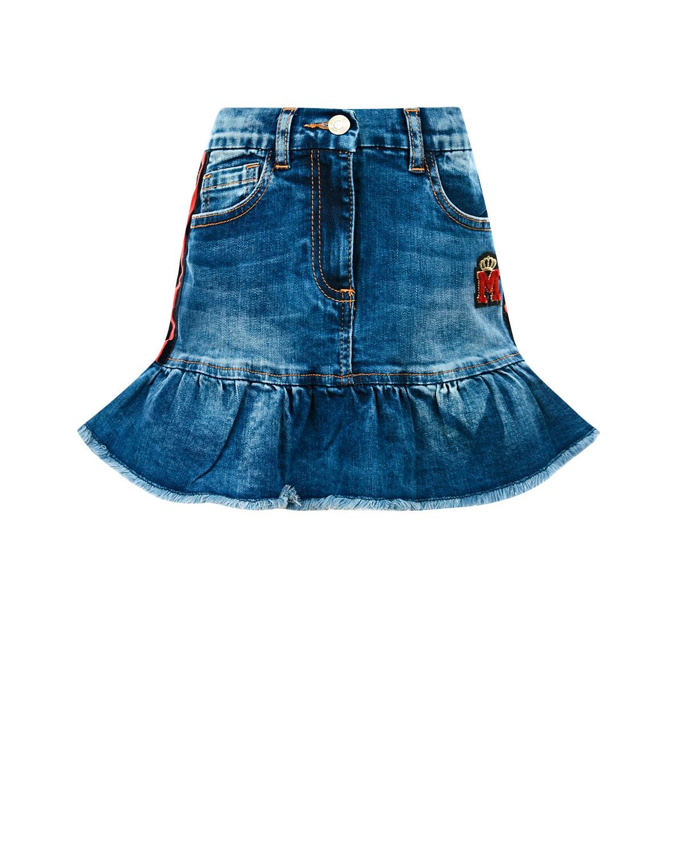 Купить Джинсовая юбка с лампасами Monnalisa