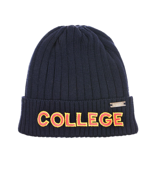 Купить Темно-синяя шапка с нашивкой college Il Trenino