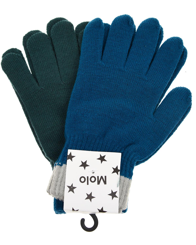 Комплект из двух перчаток Kello Ocean Blue Molo детский фото