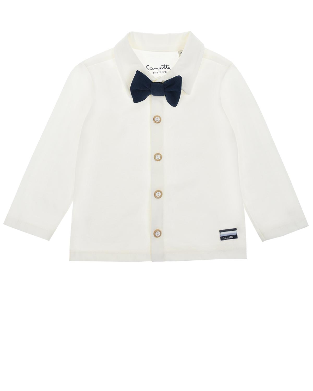 Купить Белая рубашка с бабочкой Sanetta fiftyseven детская, Нет цвета, 100%хлопок