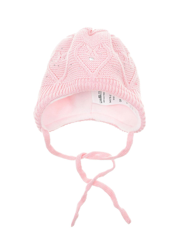 Купить Шерстяная шапка с флисовой подкладкой MaxiMo детская, Розовый, 100%шерсть, 85%хлопок+15%полиамид