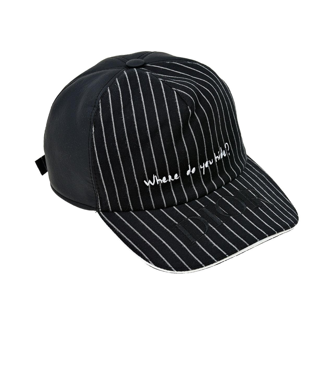 Купить Черная кепка из хлопка с контрастной отделкой Dior детская, Черный, 100%хлопок, 100%полиаимд