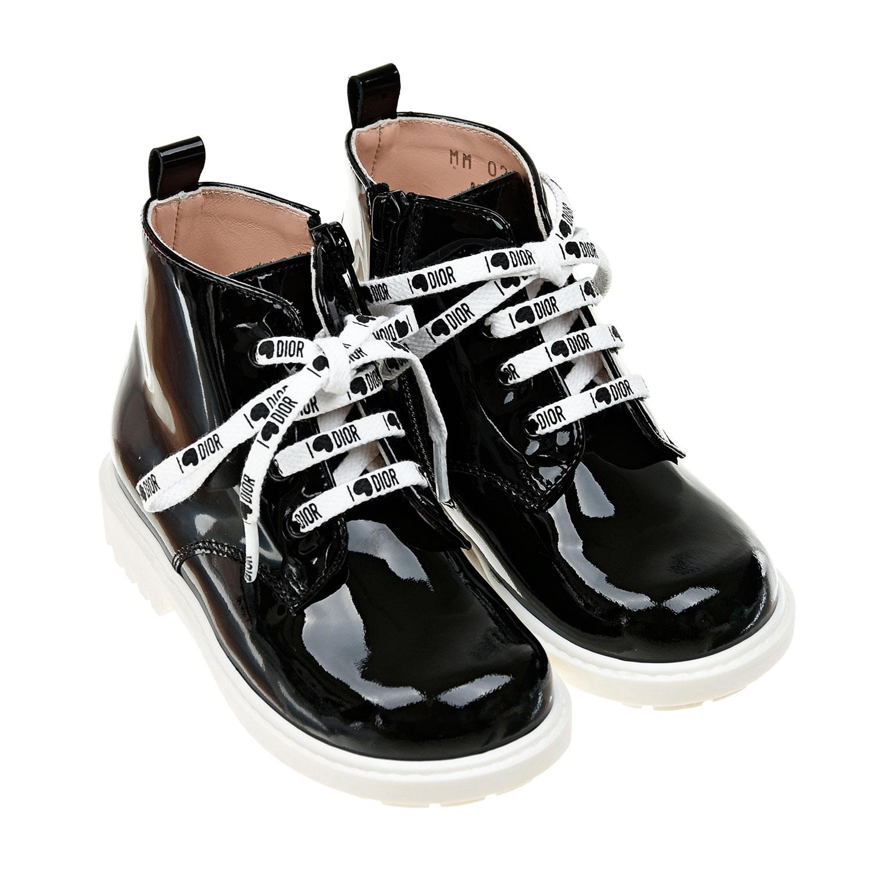 Ботинки из лаковой кожи Dior детские