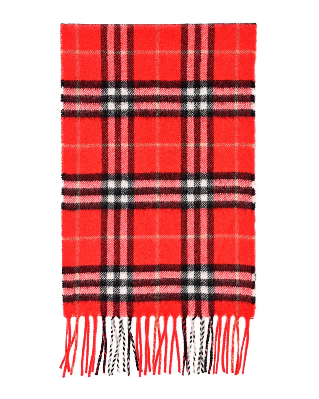 Кашемировый шарф в клетку Burberry детский фото