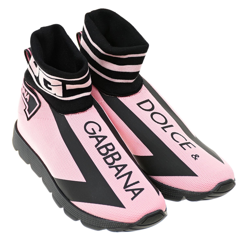 Высокие эластичные кроссовки с логотипом Dolce&Gabbana детские