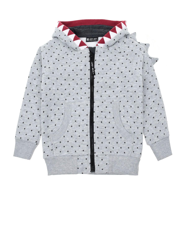 Купить Куртка спортивная Diavolo Hoodie Dot Stop Zombie Dash детская, Серый, 90%хлопок+10%полиэстер
