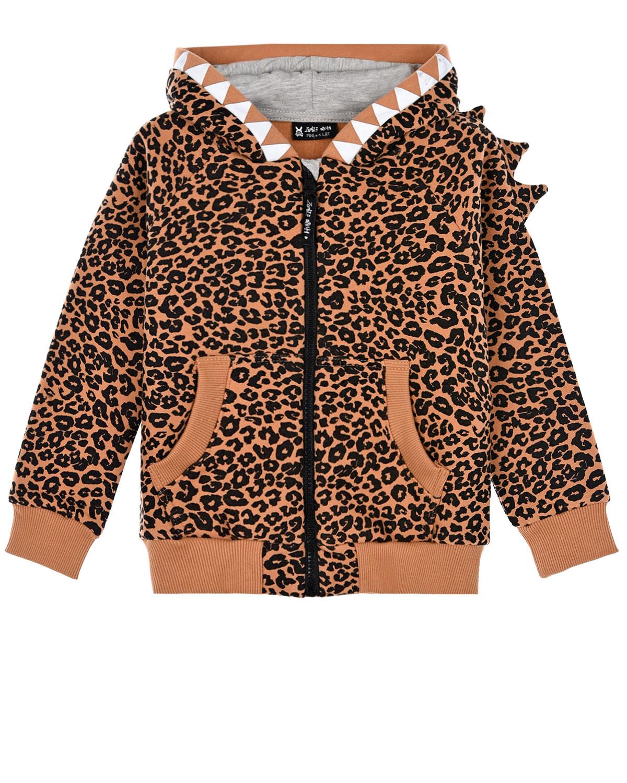Купить Куртка спортивная Diavolo Hoodie Panter Zombie Dash детская, Коричневый, 90%хлопок+10%полиэстер