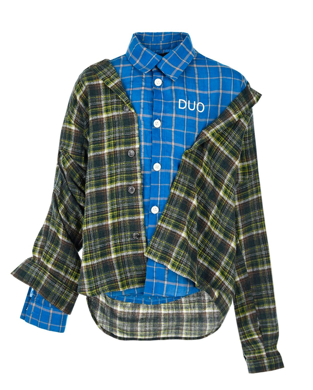 Купить со скидкой Двойная рубашка с принтом в клетку Natasha Zinko детская