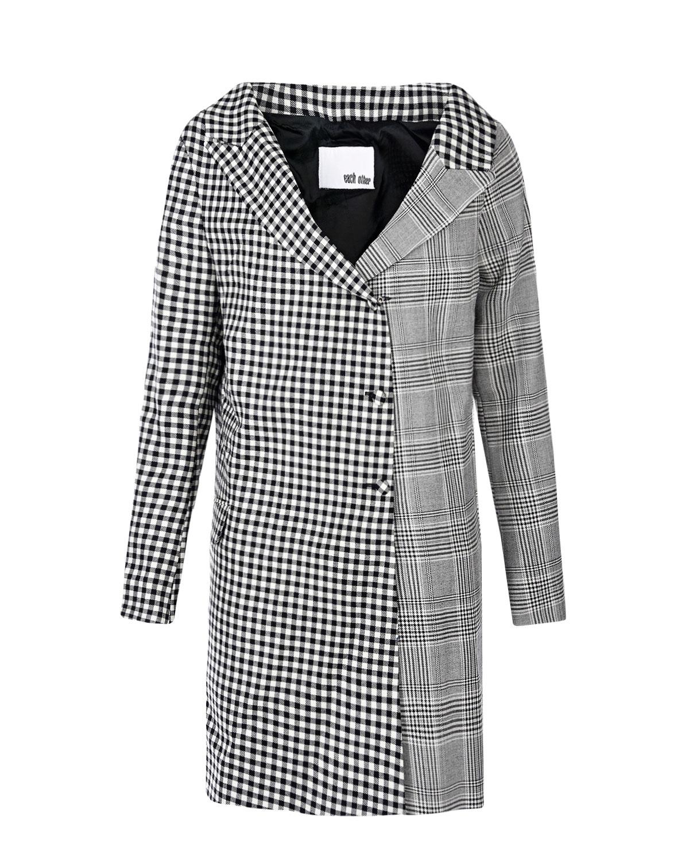 Купить Ассиметричное платье в клетку Each Other, Мультиколор, 100%шерсть, 36%ацетат+29%вирджинская шерсть+15%шерсть+15%полиуретан+5%др.волокна, 100%полиэстер