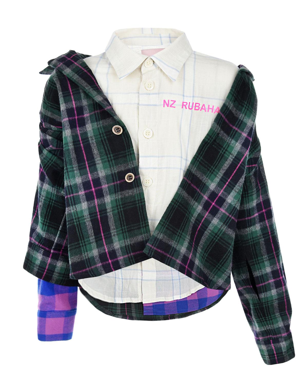 Купить со скидкой Двойная рубашка в клетку Natasha Zinko детская