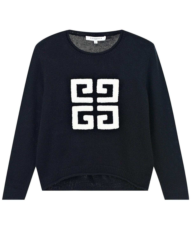 Джемпер из смесовой шерсти с объемным логотипом Givenchy детский фото