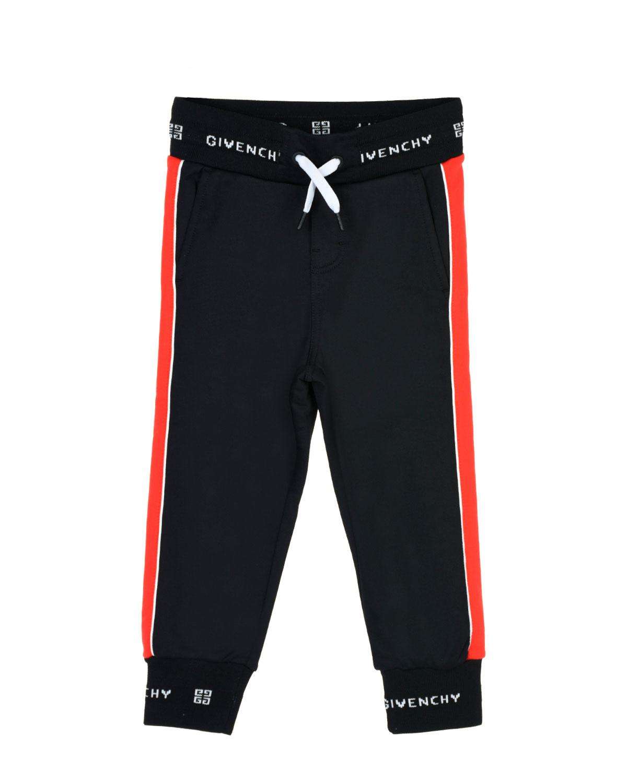 Купить Спортивные брюки с контрастной отделкой Givenchy детские, Черный, 100%хлопок, 97%полиамид+3%эластан, 61%полиамид+39хлопок