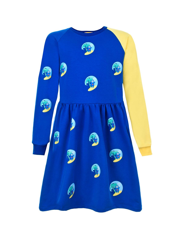 Платье с контрастным рукавом #MUMOFSIX детское фото
