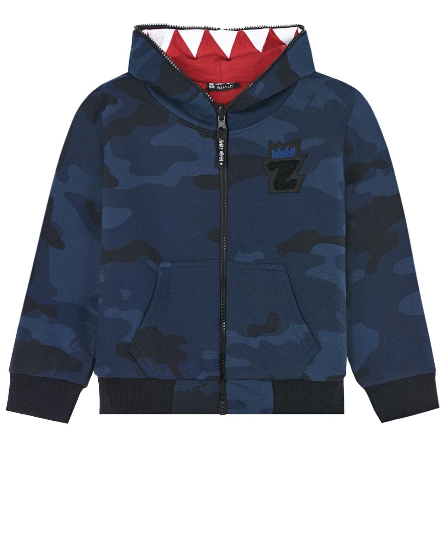 Куртка двухсторонняя Nice 2 Eat U Camo, navy Zombie Dash детская фото