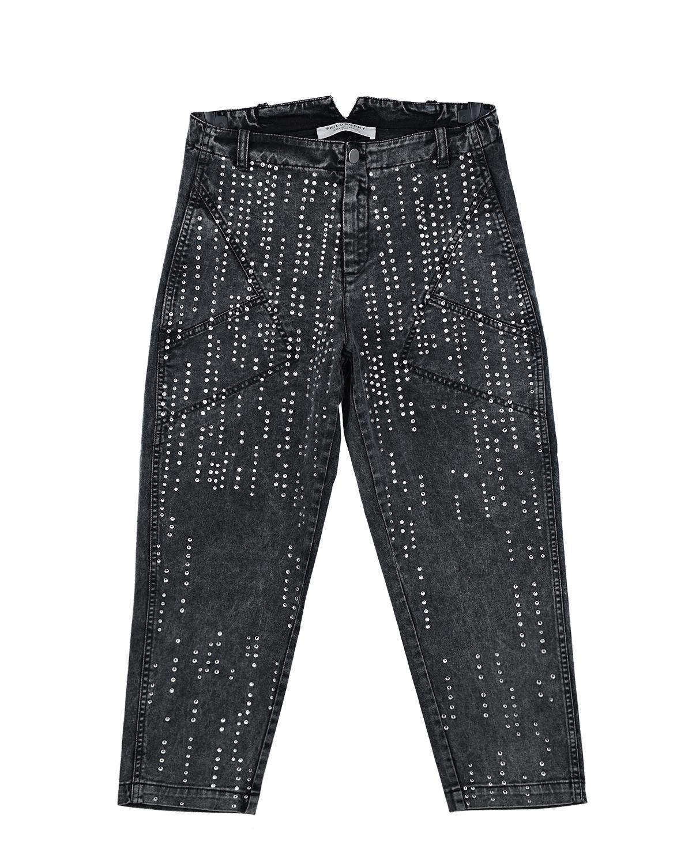 Серые джинсы со стразами Philosophy детские фото