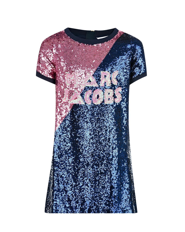 Платье с пайетками Little Marc Jacobs детское фото