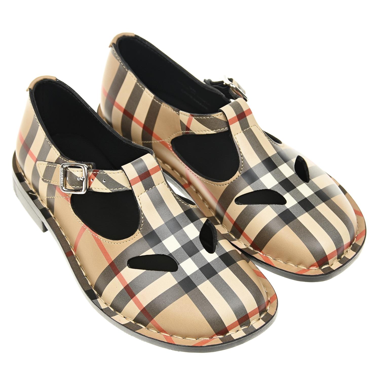 Кожаные туфли в клетку Burberry