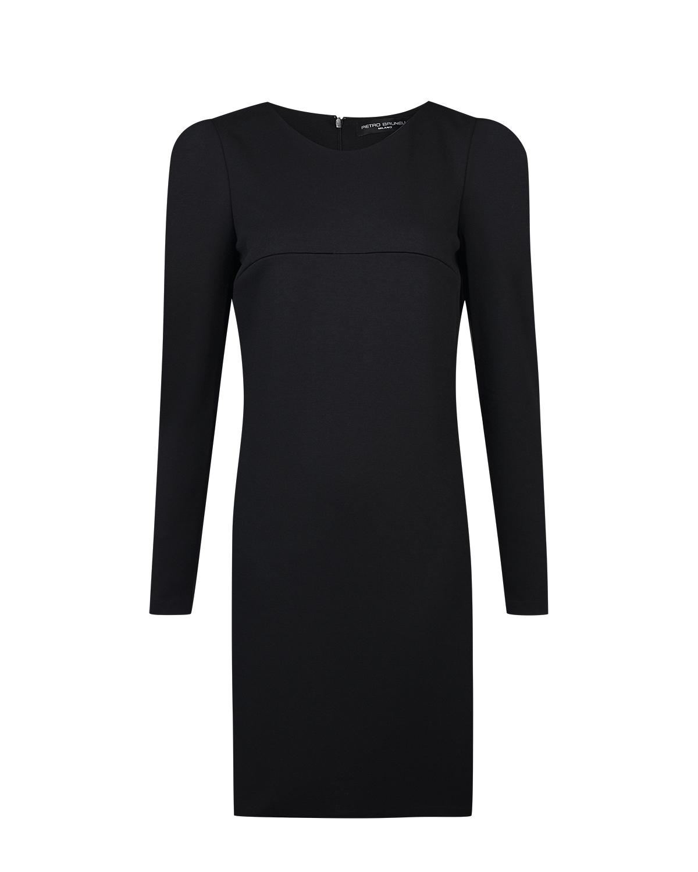 Черное платье для беременных и для кормления из трикотажа Pietro Brunelli черного цвета