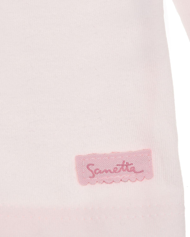 Рубашка из хлопка с вышивкой на воротнике Sanetta fiftyseven детская
