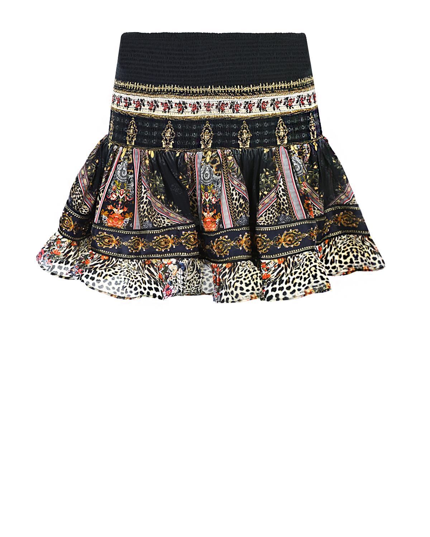 Купить Шелковая мини-юбка с эластичным поясом Camilla