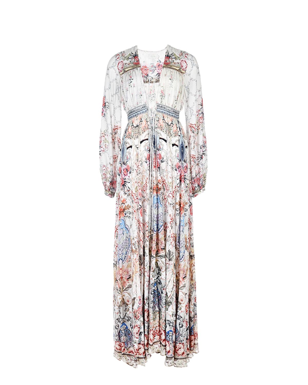 Купить Платье из вискозы с V-образным вырезом Camilla